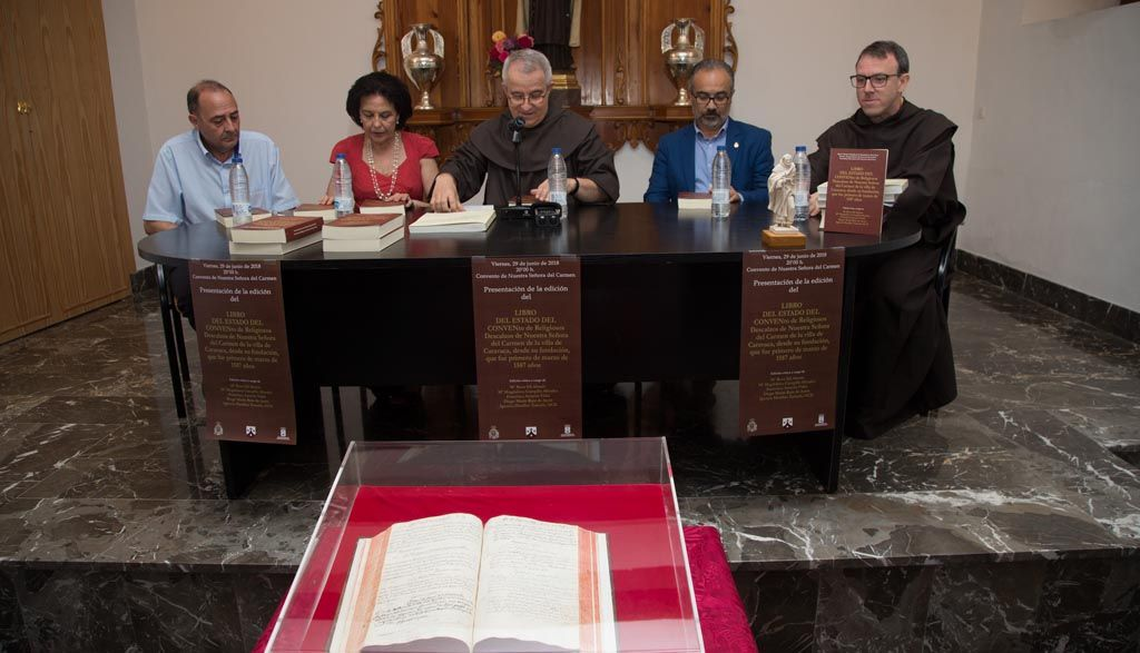 Editan la transcripción del Libro de Estado del Convento de los Carmelitas de Caravaca como fuente para el estudio de la historia local