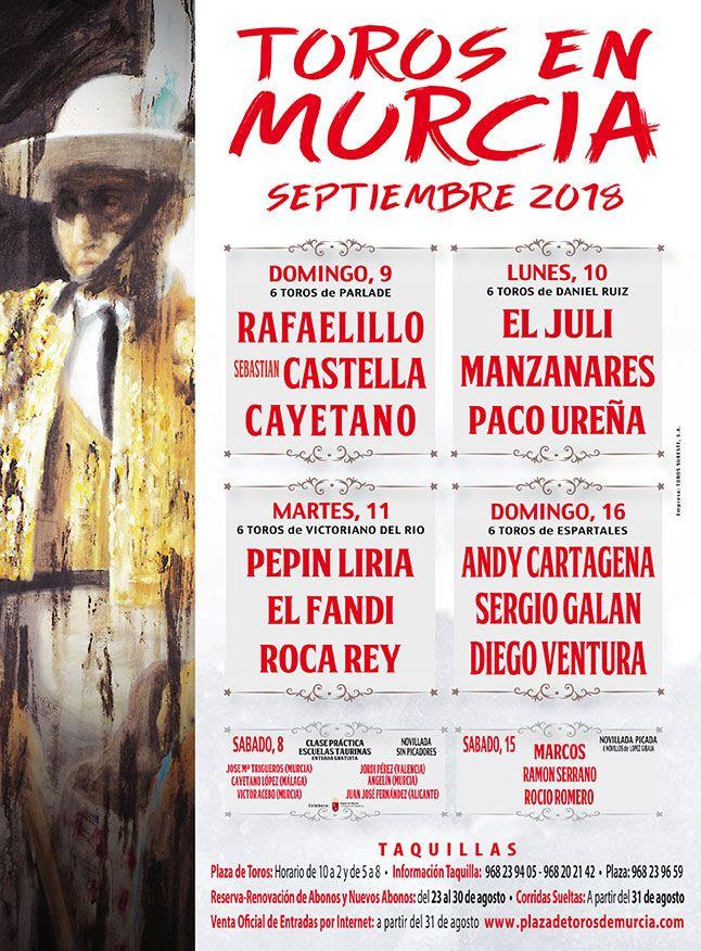 Toros en Murcia. Septiembre de 2018