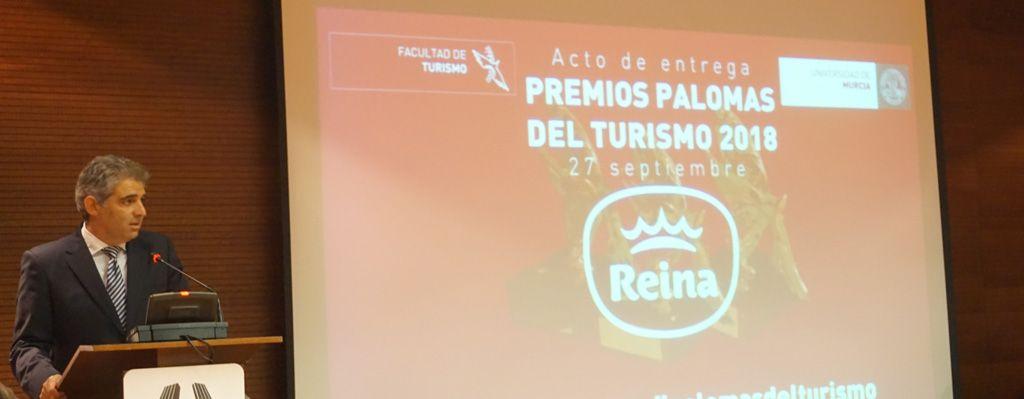 """La 49ª Edición del evento """"Palomas del Turismo"""" reconoce la labor del Grupo Postres Reina,  Consorcio Vías Verdes y Hotel NH Murcia"""
