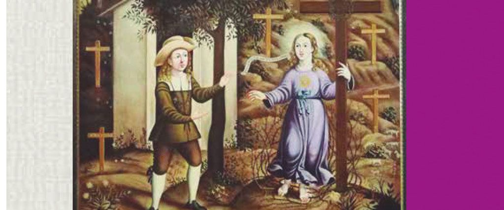 Un díptico recoge parte de la historia de la aparición del Niño de Mula