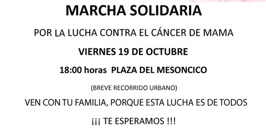 Marcha Solidaria de la AECC de Cehegín el viernes 19 de octubre