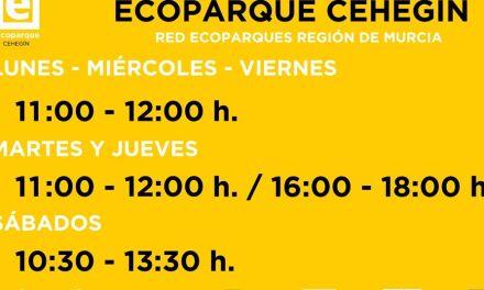 El Ecoparque de Cehegín pasa al horario de invierno a partir del lunes 22 de octubre