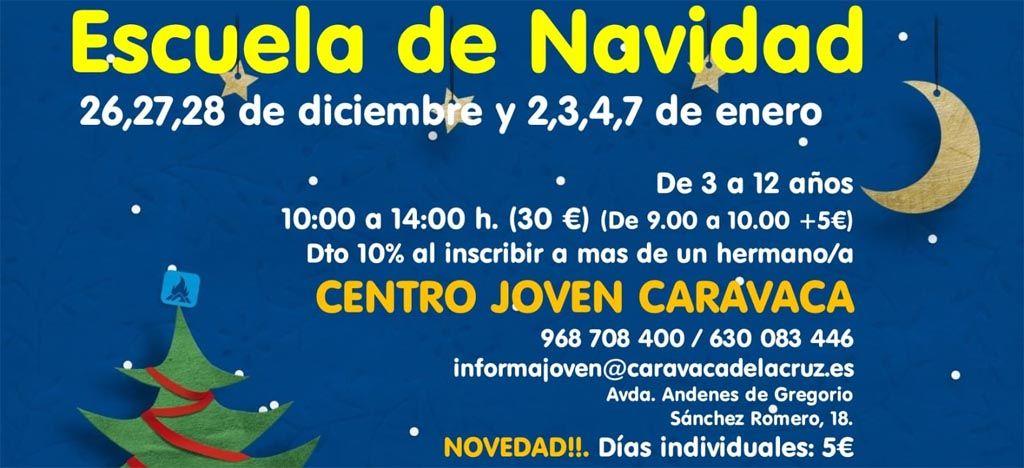 Abierto el plazo de matrícula en la 'Escuela de Navidad' del Centro Joven de Caravaca