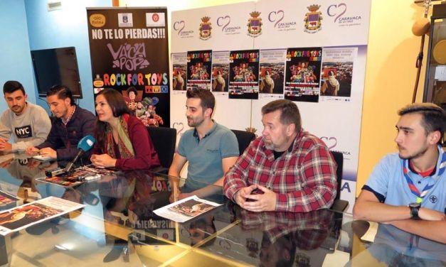 El Ayuntamiento de Caravaca, Cruz Roja y asociaciones juveniles promueven una campaña solidaria de donación de juguetes