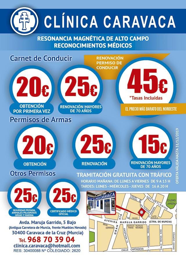 Clínica Caravaca precios 2018