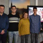 La consejera Adela Martínez-Cachá recibe al atleta de Bullas Francisco Espín, medallista en el VIII Campeonato de España de Marcha de Invierno
