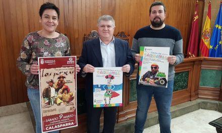 King África y la compañía teatral SinFin animarán el variopinto y colorista  Carnaval de Calasparra