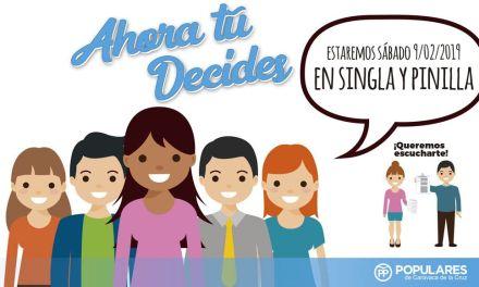 Singla y Pinilla, nuevos destinos de la campaña de participación vecinal 'Ahora tú decides' del PP de Caravaca de la Cruz
