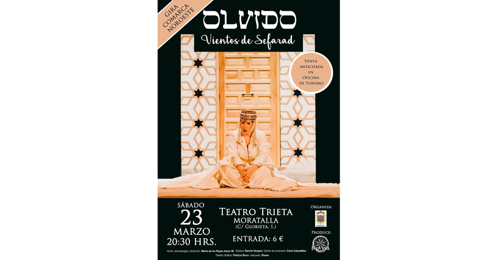 """La Compañía Teatro Finalis Terra presenta su obra """"Olvido (Vientos de Sefarad)"""" en Moratalla"""