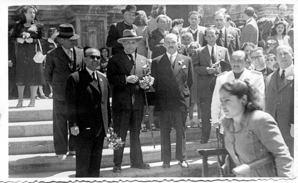 Con Federico García Sanchís, el 2 de mayo de 1951