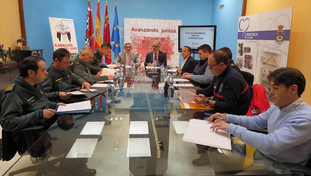 La Junta Local de Seguridad coordina los dispositivos preventivos de las fiestas patronales de Caravaca