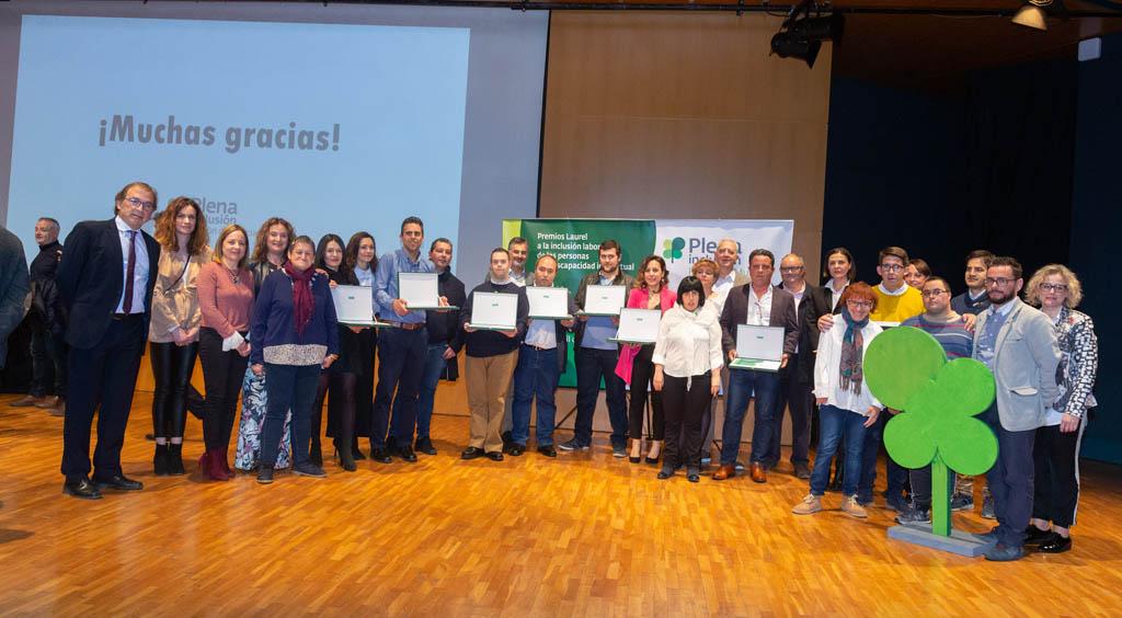 Entregados los XXIII Premios Laurel a la inclusión laboral de las personas con discapacidad intelectual