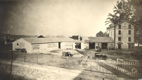 Primer emplazamiento del Garaje Ford. Hacia 1927
