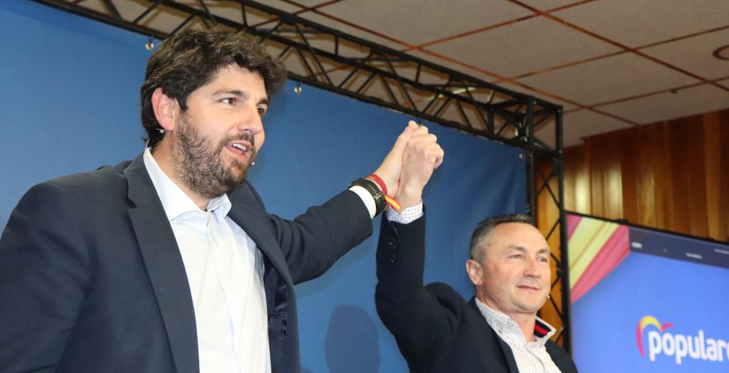 López Miras apoya a Juan Soria como candidato a la Alcaldía de Moratalla