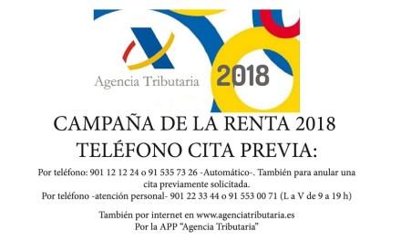 Punto de asistencia al contribuyente en Bullas para la campaña de la Renta 2018