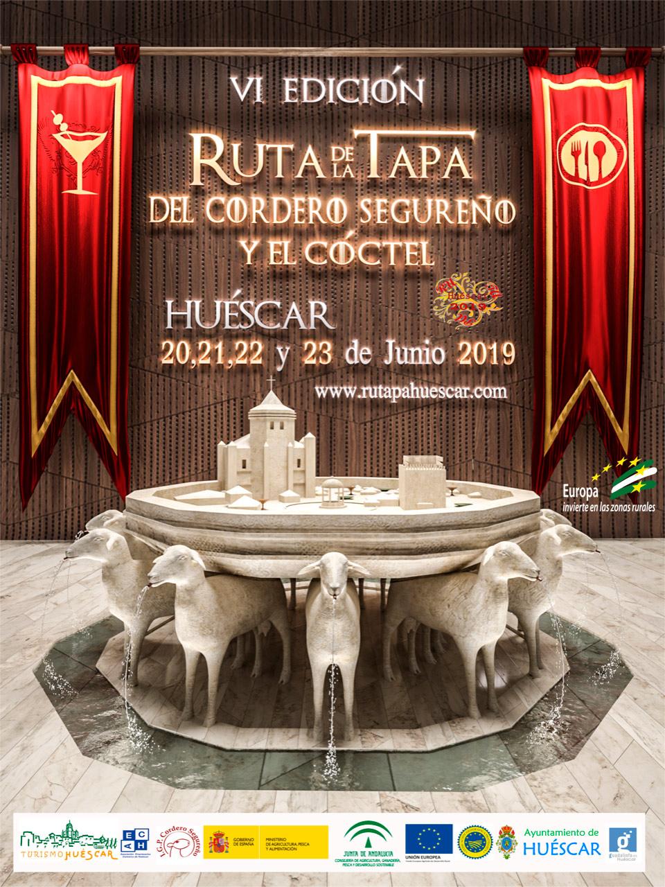 Cartel de la Ruta de la Tapa de Huescar junio de 2019