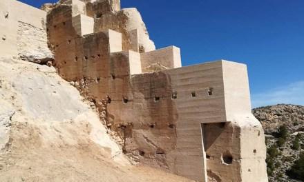 Concluyen los trabajos en un tramo en peligro de la muralla del Castillo