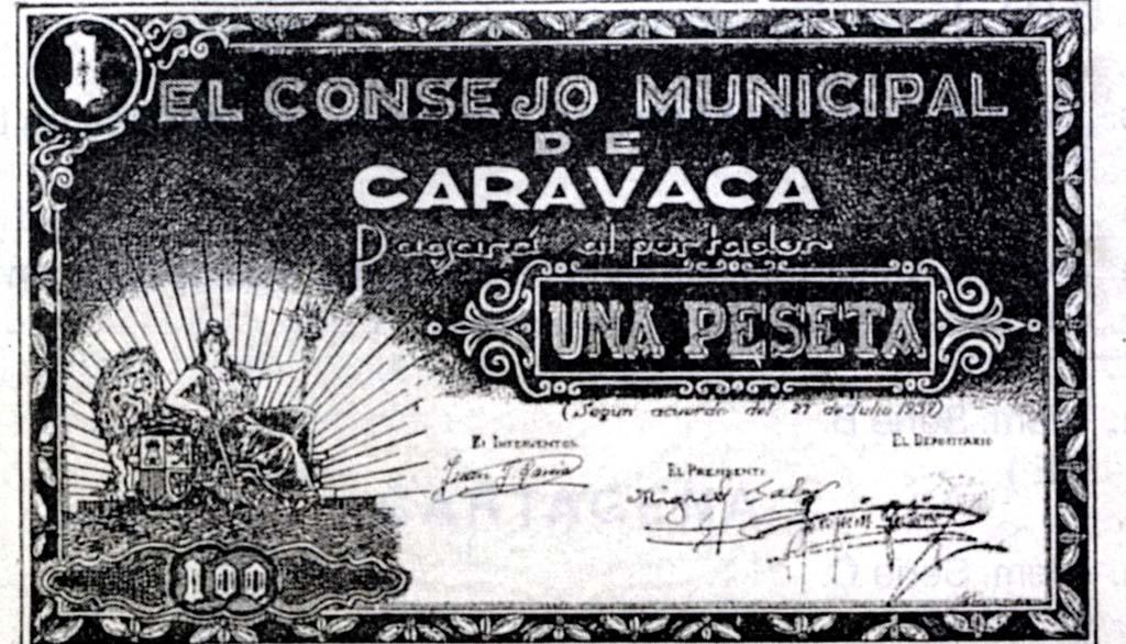 27 de Julio de 1937: Emisión de billetes por el Ayuntamiento de Caravaca