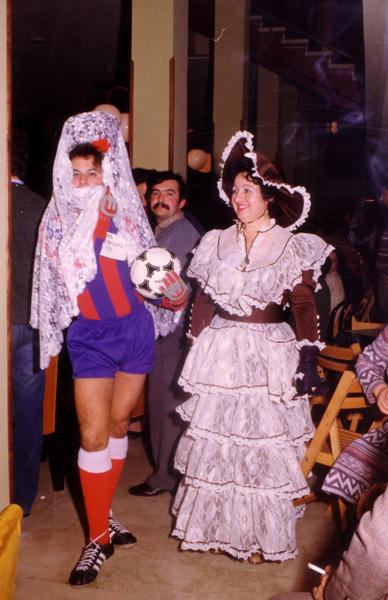 Con Paco el Peluquero, en el Carnaval de Cehegín de 1978