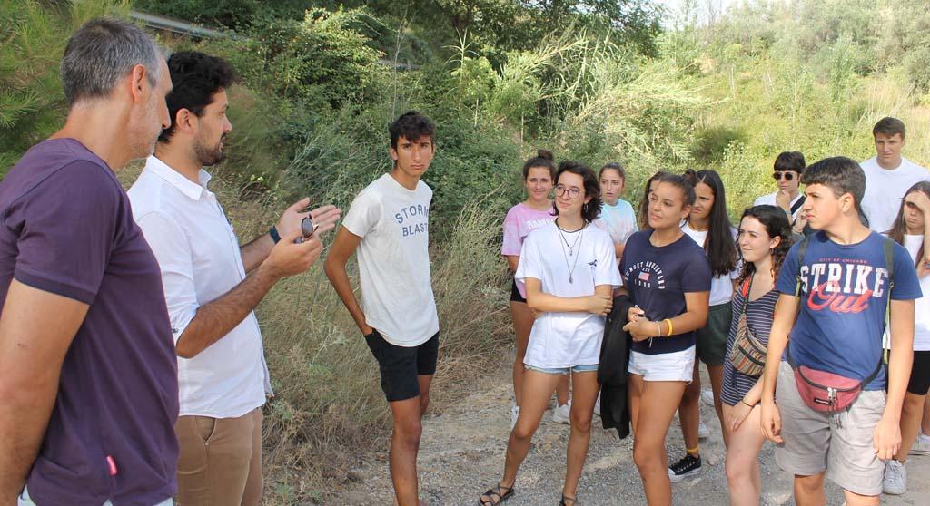 Jóvenes voluntarios terminan en Bullas el campo de trabajo relacionado con el medio ambiente