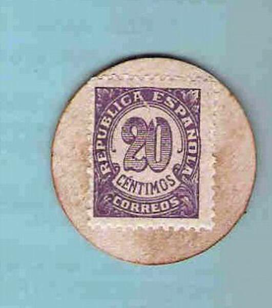 Moneda de carton 1937 rev.