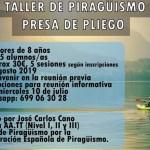 Taller de piragüismo en la presa de Pliego