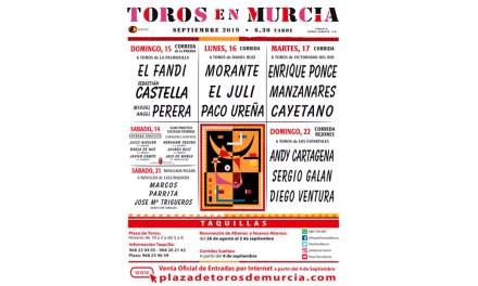 Cambios en los carteles de la Feria de Murcia