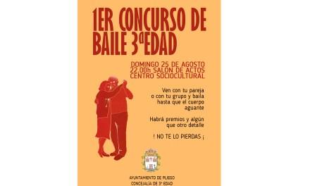 El próximo domingo 25 de agosto se realizará el primer Concurso de Baile para la Tercera Edad