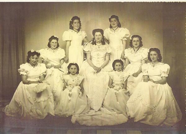 Participantes en los Juegos florales de 1950