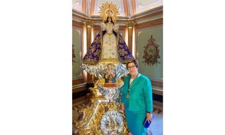 «La Virgen de la Esperanza es el mayor tesoro de los calasparreños, creyentes y no creyentes», Fulgen Sánchez, presidenta de la Mayordomía de la Fundación Santuario de Nuestra Señora de la Esperanza,