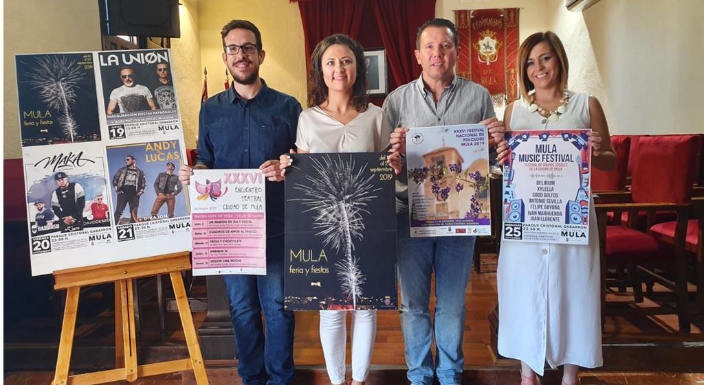 Las Fiestas de Mula tendrán como protagonistas a grupos e interpretes locales