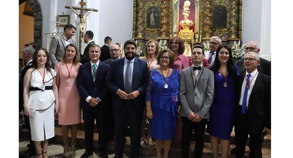 López Miras acompaña a los vecinos de Cehegín en el día grande de su patrona, la Virgen de las Maravillas