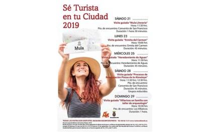 La Concejalía de Turismo pone en marcha la 5ª edición del programa 'Sé turista en tu ciudad' para seguir descubriendo la belleza de Mula