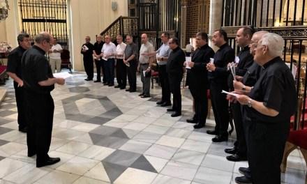 Este domingo toman posesión Diego Martínez, Ramón Navarro, Cristóbal Sevilla y Fernando Valera como nuevos canónigos de la Catedral