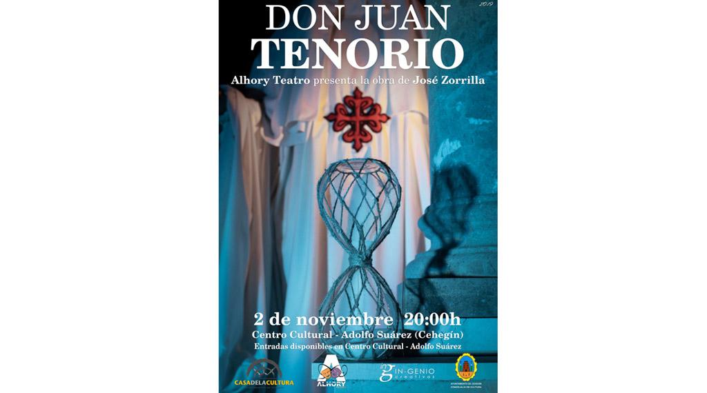 Alhory Teatro representará la obra  'Don Juan Tenorio' en Cehegín
