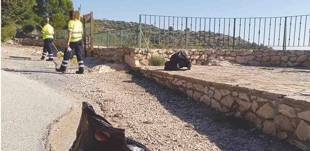 Mantenimiento en el paraje de La Muela y la Barraca