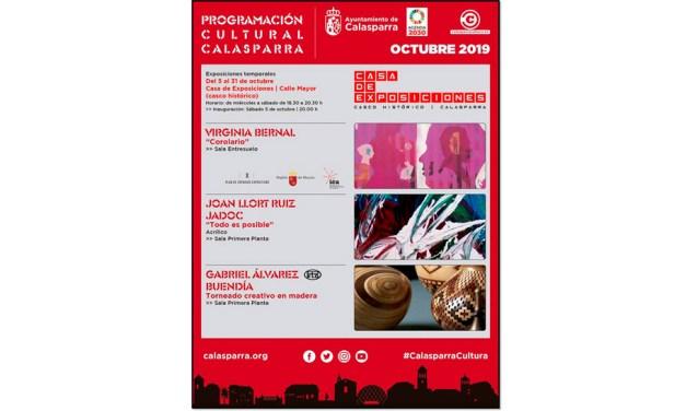 Este mes de octubre la Casa de Exposiciones de Calasparra albergará las obras de tres artistas regionales