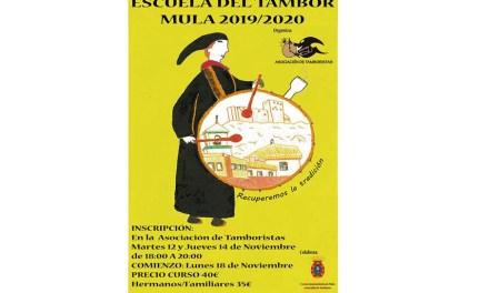 La Asociación de Tamboristas pone en marcha un año más la Escuela del Tambor 2019/2020