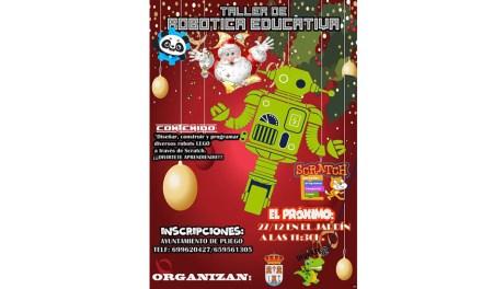 El viernes 27 se realiza en Pliego un Taller de robótica educativa