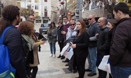 José Carlos Gómez promociona la candidatura 2020 de Los Caballos del Vino con un grupo organizado de periodistas especializados de Canarias