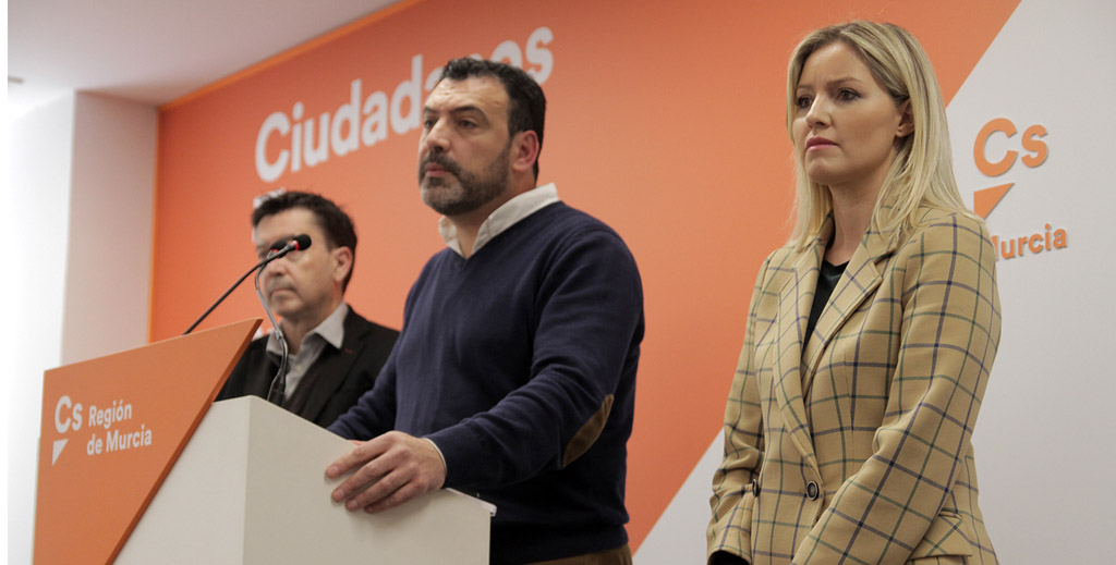 Jerónimo Moya, portavoz de la gestora de Ciudadanos en la Región de Murcia