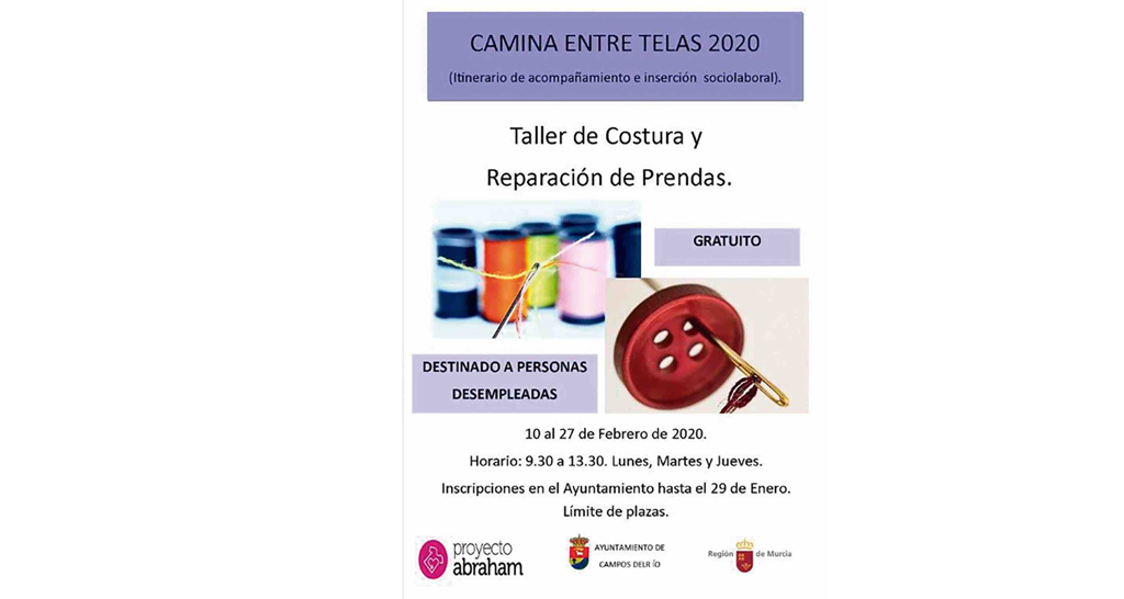Campos del Río inicia este febrero un taller de teatro y otro de costura y reparación de prendas
