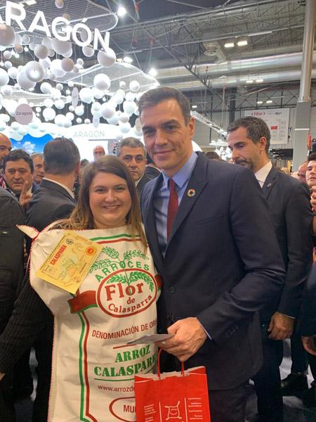 Pedro Sánchez visitó el stand de la Región de Murcia