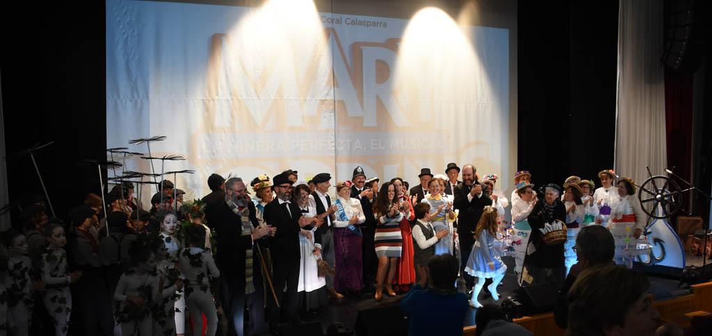 La Asociación Cultural Coral Calasparra lleva «Mary Poppins» al auditorio