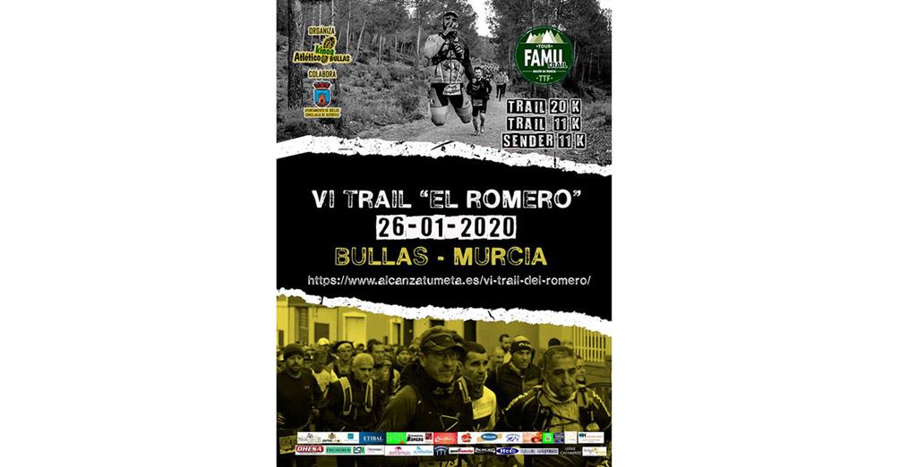 La VI Trail El Romero se disputa el 26 de enero