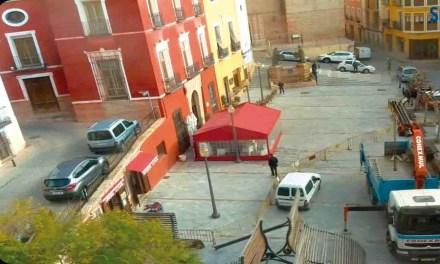 Retiradas las pérgolas de la plaza del Ayuntamiento de Mula