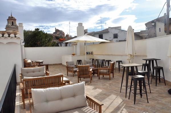 Vista desde la terraza de hospedería La Vera Cruz