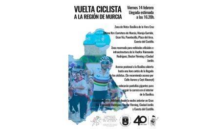 Los 126 corredores de la Vuelta Ciclista a Murcia finalizan este viernes la etapa inaugural en el Castillo de Caravaca
