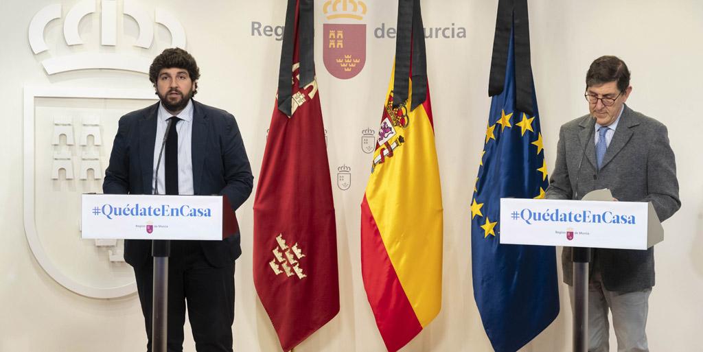 """López Miras pide a Sánchez """"certidumbre y decisiones basadas en criterios científicos"""" en la gestión del Covid-19"""