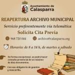 La Biblioteca y el Archivo Municipal han abierto de nuevo sus puertas en Calasparra